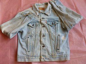 Vintage Mens 46 Levis Red Tab Denim Jean Jacket not Sure 46 L XL Made