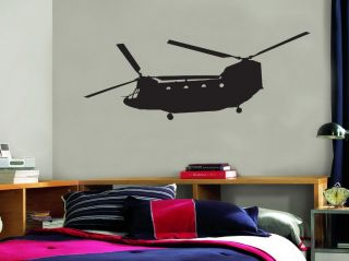 Chinook Military Helicopter Vinyl Wall Decal Sticker