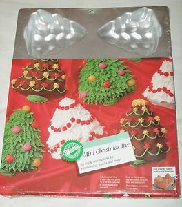 Wilton Mini Christmas Trees Cake Pan New in Pkg Makes 6 Trees in Pan