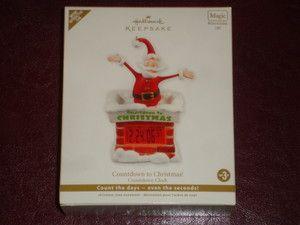 Hallmark Ornament 2012 Countdown to Christmas Clock Magic Motion Light