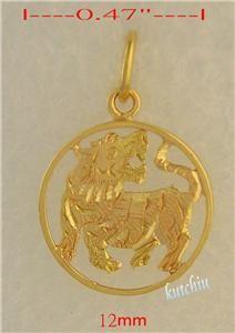 14k 14kt Gold Chinese Zodiac Tiger Charm Pendant 211