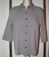 CHRISTOPHER & BANKS S NEW Shirt Blouse Black White Plaid Check Button
