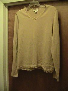 Christopher Banks Womens Size L Large Golden Yellow Sweater Long