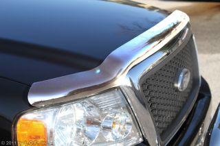 Chrome Hood Deflector Chevy Silverado 1500 2007 2012 Rock Stone Bug