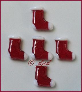 Discontinued Christmas Stockings Santa Glass Shapes Gems Mosaic Tile