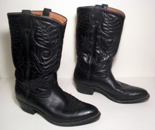 Red Wing Pecos Cowboy Western Boots Mens Size 10 5 D Black Made in USA