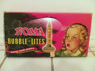vintage 50s noma bubble christmas tree lights 0360