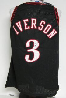 Allen Iverson 76ers Autographed/Signed Authentic Jersey PSA/DNA