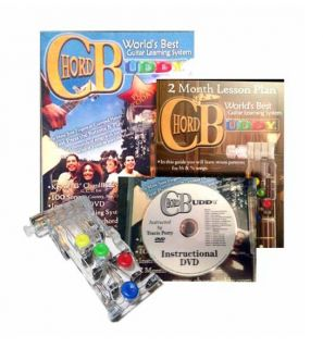Chord Buddy Learn to Play Guitar   Guide, DVD, Aid + FREE CAPO/TUNER $