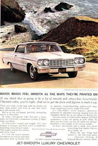 Chevrolet Chevy Impala SS Super Sport Coupe 1964 Ad