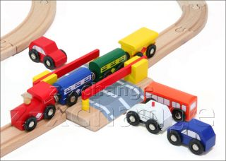 101 PC Wooden Train City Set Fits Free Thomas Brio Chuggington New 100