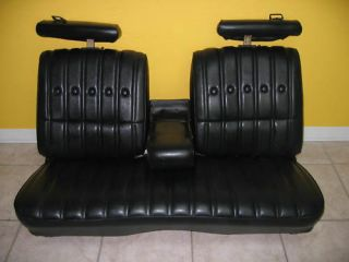 Chevy Malibu Classic Leather Bench Seat Set 75 Blk
