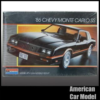 Monogram 86 Chevy Monte Carlo SS Model Kit 1986 Chevrolet