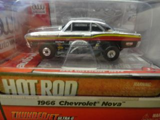 Autoworld Thunderjet R10 66 Chevrolet Nova Chrome HO Scale Slot Car