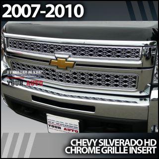 2007 2010 Chevy Silverado 2500 HD Chrome Grill Grille