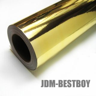 15X60 Gold Chrome Foil Sticker Wrap Decal Hood Roof Trunk Exterior