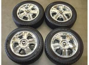 20 Chevy Silverado Tahoe Suburban LTZ Chrome Wheels Rims Tires 2012