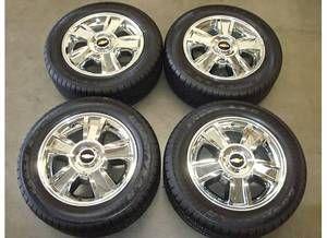 20 Chevy Silverado Tahoe Suburban LTZ Chrome Wheels Rims Tires 2012