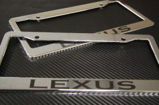 LEXUS LICENSE PLATE FRAME Plastic Chrome & MATTE BLACK GS ES IS LS RX