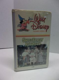 Walt Disney White Case Swiss Family Robinson VHS Home Video Movie VCR