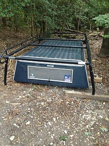 Chevy Truck Cap ( USED ) Color Matched 8 Bed & Custom Roof Rack