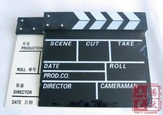 Clapper Board Directors TV Film Slate Movie Cut White