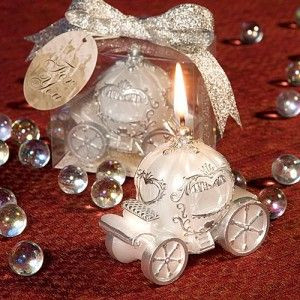 Cinderella Fairytale Coach Carriage Candle Wedding Shower Favor Sample