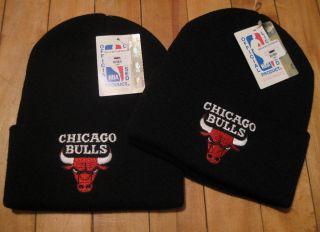 Vtg 90s Chicago Bulls Skull Cap Beanie Hat Toque Snapback Starter
