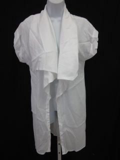 Herff Christiansen White Cotton Short Sleeve Cardigan M