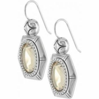 Brighton CLARITA GEM Silver Gold Swarovski Crystal Earrings NEW Just