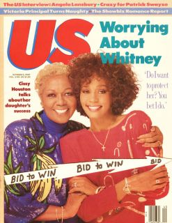 Whitney Houston Cissy Houston US Magazine October 1987 Worring About