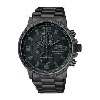 Citizen Nighthawk Mens Stainless Steel Case Chronograph Date Watch
