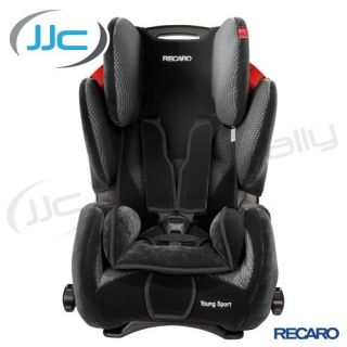 Recaro Young Sport Child Car Seat In Black Group 1 2 3 Baby Seat