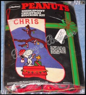 'Twas The Night Stocking Needlepoint Christmas Stocking Kit