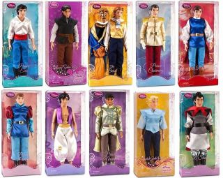 Disney Princess Prince 12 Classic Doll Toy Collection Gift Set