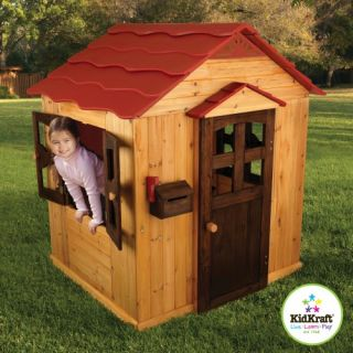 Childrens Kids Indoor & Outdoor Backyard Playhouse Play House   Wood