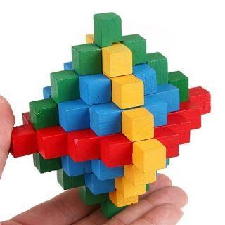 Children Educational Magic Puzzle Toys Lock Wooden DIY