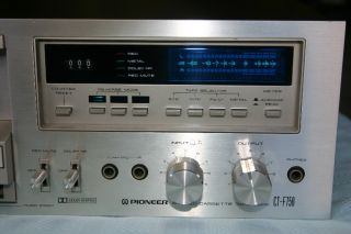 Vintage Pioneer Ct F750 Cassette Tape Player Nice Condition