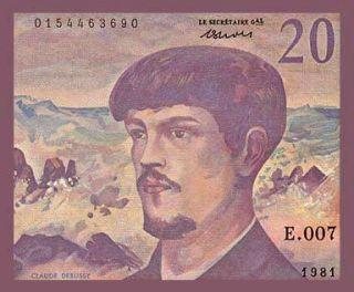 20 Francs Banknote France 1981 Claude Debussy UNC