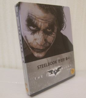 Batman The Dark Knight Blu ray Korean Exclusive Steelbook NEW & Sealed