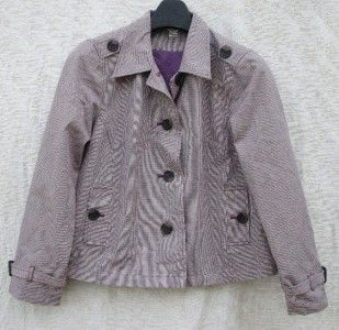 Christopher Banks Purple Green M Fall Jacket Coat