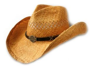 Official Harley Davidson® Mens Cowboy Western Straw Hat HD 715 New