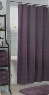 Cindy Crawford Amethyst Purple Diamond Pattern Luxury Fabric Shower