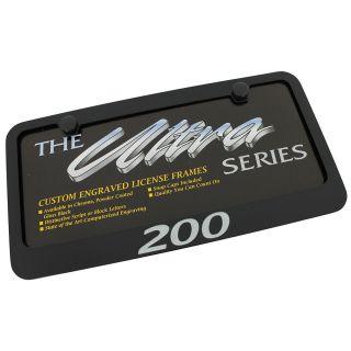 Chrysler 200 Black License Plate Frame