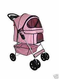BestPet 4 Wheels Pet Dog Cat Stroller 18 Color Choices Free Rain Cover