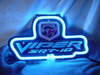 Chrysler Dodge Viper Auto Neon Light Sign SD201