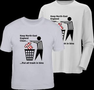 Keep England Clean Newcastle Funny United T Shirt