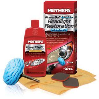 Mothers Powerball 4 Headlights Kit Clean Polish Restore Plastic Lens