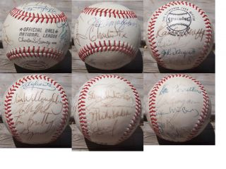 SAN FRANCISCO GIANTS AUTOGRAPHED ONL CHARLES FEENEY SPALDING BASEBALL