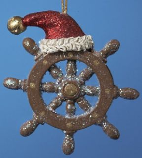CLEARANCE Classic Ship Steering Wheel Helm Christmas Ornament